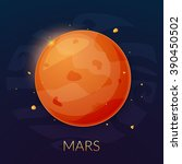 the planet mars  vector... | Shutterstock .eps vector #390450502