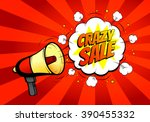 crazy sale banner with... | Shutterstock .eps vector #390455332