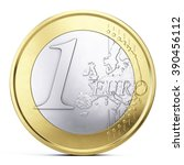 One Euro Coin Isolated On White ...