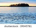 Winter View Of Island And Icy...