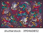 colorful vector hand drawn... | Shutterstock .eps vector #390460852