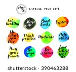 how to improve your life....   Shutterstock .eps vector #390463288