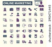 online marketing icons  | Shutterstock .eps vector #390471445