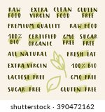 organic labels collection. set... | Shutterstock .eps vector #390472162