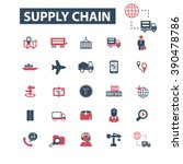 supply chain icons  | Shutterstock .eps vector #390478786