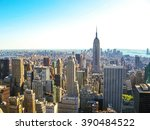 manhattan  new york  united... | Shutterstock . vector #390484522
