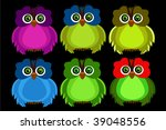 color owl | Shutterstock .eps vector #39048556