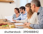 business teamwork working... | Shutterstock . vector #390488842