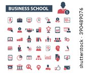 business school icons  | Shutterstock .eps vector #390489076