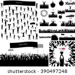 silhouettes and posters  with... | Shutterstock .eps vector #390497248