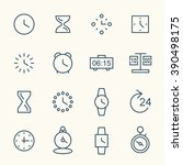time line icons | Shutterstock .eps vector #390498175