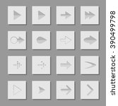 set arrow icons vector...