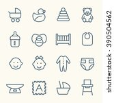 baby line icons | Shutterstock .eps vector #390504562