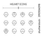 helmet icons. | Shutterstock .eps vector #390506098