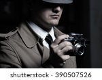 young male spy agent wearing a...   Shutterstock . vector #390507526