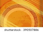 vector comic book orange grunge ... | Shutterstock .eps vector #390507886