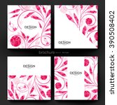 floral ornament vector brochure ... | Shutterstock .eps vector #390508402