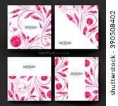 floral ornament vector brochure ... | Shutterstock .eps vector #390508402