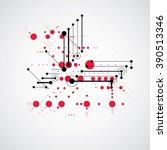 modular bauhaus red vector... | Shutterstock .eps vector #390513346