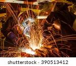 welder industrial automotive... | Shutterstock . vector #390513412