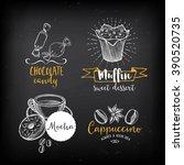 coffee and sweet menu... | Shutterstock .eps vector #390520735