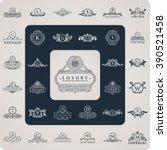 luxury logo monogram. vintage...   Shutterstock .eps vector #390521458