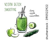 vector illustration of vegan... | Shutterstock .eps vector #390522922