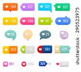 set of like counter... | Shutterstock .eps vector #390523975