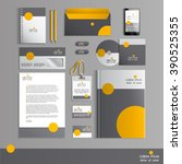 grey corporate identity... | Shutterstock .eps vector #390525355