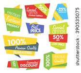 special offer sale tag discount ... | Shutterstock .eps vector #390535075