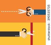 hand holding scissors   Shutterstock .eps vector #390535735