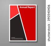 vector design brochure. cover... | Shutterstock .eps vector #390540406