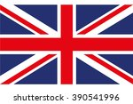 flag of great britain on a... | Shutterstock .eps vector #390541996