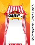 the carnival funfair and magic... | Shutterstock .eps vector #390544546