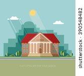 university on the city... | Shutterstock .eps vector #390548482