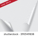 page curl with shadow on a... | Shutterstock .eps vector #390549838