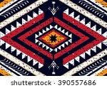 geometric ethnic oriental... | Shutterstock .eps vector #390557686