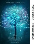 beautiful magic tree with... | Shutterstock .eps vector #390564652