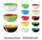 vector illustration set of food ... | Shutterstock .eps vector #390568168
