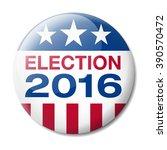 badge election 2016 | Shutterstock .eps vector #390570472