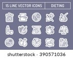 healthy diet icons  healthy... | Shutterstock .eps vector #390571036