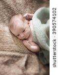 newborn baby  | Shutterstock . vector #390574102
