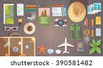 flat web banner on the theme of ... | Shutterstock . vector #390581482