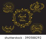 """save the date"" typography set. ... 