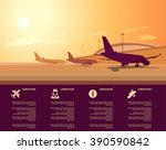 vector airport terminal with... | Shutterstock .eps vector #390590842
