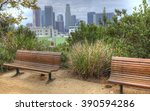 los angeles city center with... | Shutterstock . vector #390594286