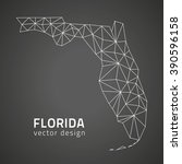florida outline map  usa state | Shutterstock .eps vector #390596158