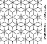 vector modern seamless geometry ... | Shutterstock .eps vector #390596602