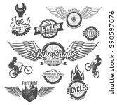 set of vintage and modern... | Shutterstock .eps vector #390597076
