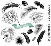 set of trendy black and white... | Shutterstock .eps vector #390602278